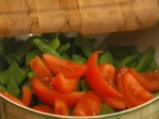 Салата от зелен фасул с домати 3
