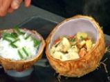Пиле с ананас в кокосов орех 4