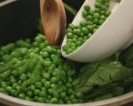 Постна крем супа от спанак и грах 2
