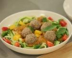 """Вегетарианска """"паста"""" с гъбени кюфтета 7"""