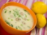 Лимонова супа с топчета от агнешко