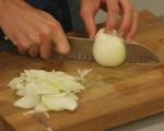 Пилешко с гъби и шафран