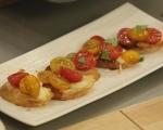 Брускети с домати и моцарела 4