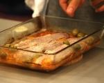 Печена риба с картофи и маслини 6