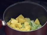 Крем супа от праз със спаначено пюре 2
