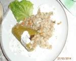 Пълнени тиквишки с ориз и кайма