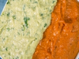 Двуцветен дип от чушки