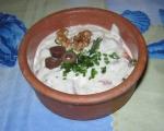 Картофени кюфтенца на фурна с печен лук и сос от печени червени пиперки 19