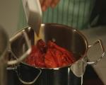 Спагети с песто от чушки 5