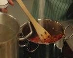 Спагети с песто от чушки 6