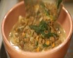 Супа от леща със сметана и спанак 6