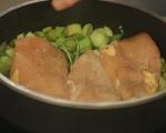 Лазаня с пилешко и праз 2