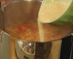 Супа от картофи и печени чушки 5