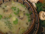 Супа от праз и гъби