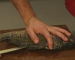 Пълнен шаран с рибен мус