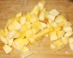 Печена тиква с карамел и ябълки 3