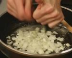 Фритата с бекон, грах и макарони 2