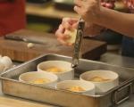 Бульон от пармезан с печено яйце 4