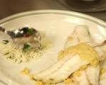 Лаврак със сос от тахан и къри 7