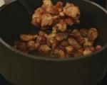 Свинско задушено с маслинова паста 2