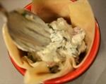 Банички със синьо сирене и шунка 4