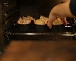Банички със синьо сирене и шунка 5