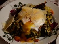 Ориз на фурна с поширани яйца