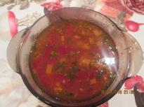 Пилешка супа със сухи чушки