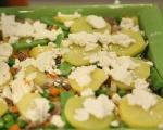 Телешки език със зеленчуци на фурна 10