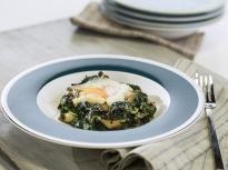 Печени яйца с гъби и спанак