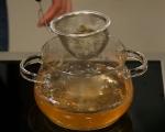 Поширана в зелен чай риба