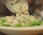 Картофена салата с пилешко и репички 6