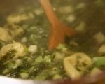 Зелена супа с тортелини  4