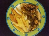 Пилешко филе на фурна с картофки