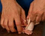 Пиле с грах и гъби