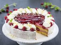 Торта с малинов мус