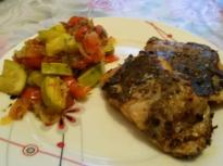 """Риба """"Бахарат"""" със зеленчуци"""