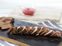 Мариновано в малинов сос свинско на грил