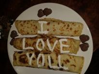 """Палачинки """"Обичам те"""""""