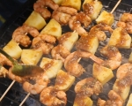 Шишчета с ананас и скариди 8
