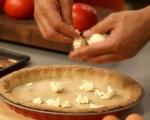 Киш с патладжани, домати и сирена 12