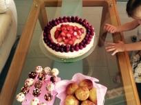 Чийзкейк с маскарпоне и ягоди