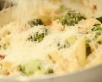Паста с пилешко и броколи 9