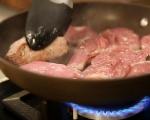Свинско с гъби в сметаново-горчичен сос 3