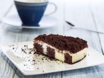 Какаов кекс с ванилов крем