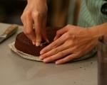 Какаов кекс с ванилов крем 5