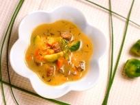 Телешка супа с брюкселско зеле