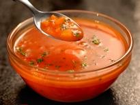 Доматена супа със зеленчуци