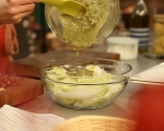 Салата от цикория със сирене и бекон 7