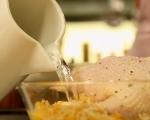 Пълнено пиле с кестени и тиква 9
